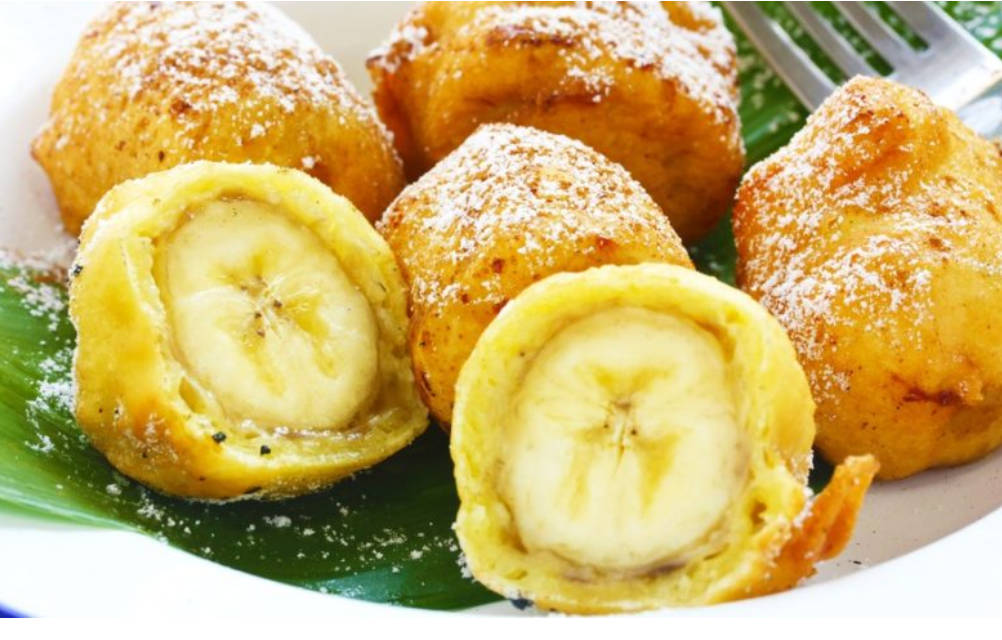 Fried banana in batter