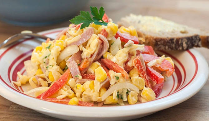 Ham and egg salad