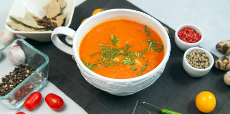 Spicy Tomato Soup with Turkey