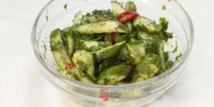 Cucumber salad with poppy seeds